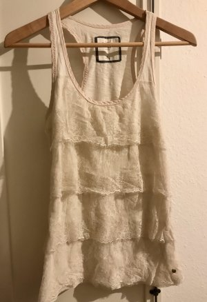 Abercrombie & Fitch Lace Top cream