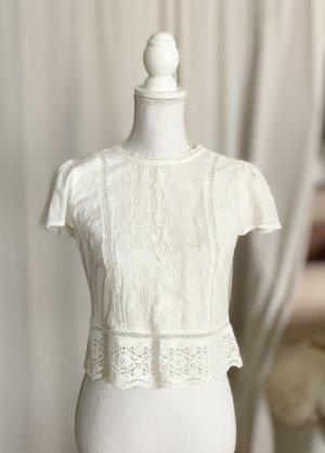 Abercrombie & Fitch T-shirt court blanc coton