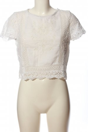 Abercrombie & Fitch Blusa folclórica blanco look casual