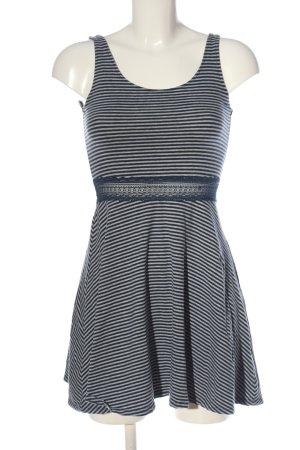 Abercrombie & Fitch Trägerkleid blau-hellgrau Streifenmuster Casual-Look