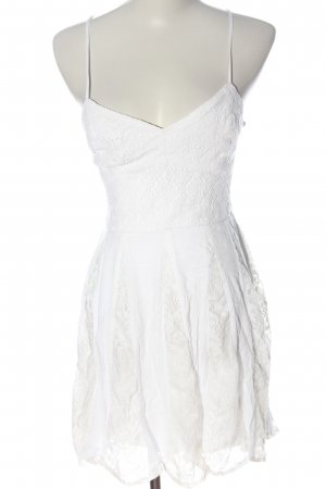 Abercrombie & Fitch Vestido tipo overol blanco look casual