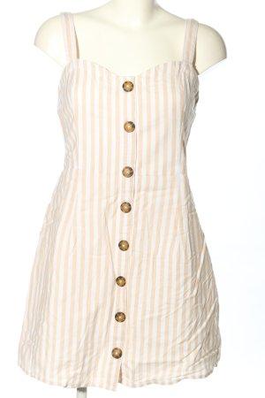 Abercrombie & Fitch Trägerkleid creme-weiß Streifenmuster Casual-Look