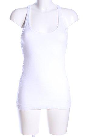 Abercrombie & Fitch Canotta a bretelle bianco stile casual