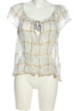 Abercrombie & Fitch Blouse transparente gris clair-doré imprimé allover