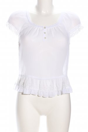 Abercrombie & Fitch Transparenz-Bluse weiß Casual-Look
