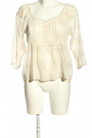 Abercrombie & Fitch Transparenz-Bluse wollweiß-creme Blumenmuster Casual-Look