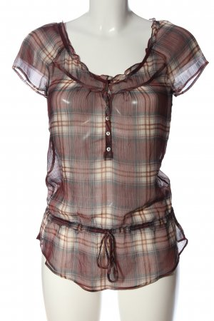 Abercrombie & Fitch Transparenz-Bluse Karomuster Casual-Look
