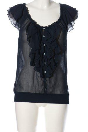 Abercrombie & Fitch Transparenz-Bluse blau Business-Look