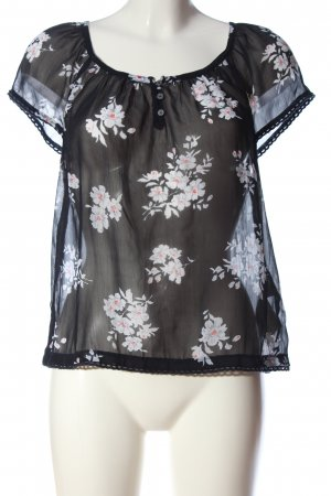 Abercrombie & Fitch Transparenz-Bluse Allover-Druck Casual-Look