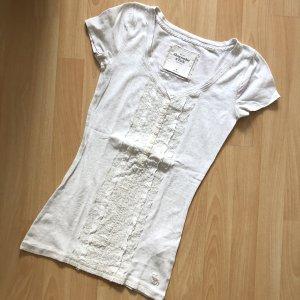 Abercrombie & Fitch V-Neck Shirt natural white-cream