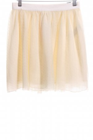 Abercrombie & Fitch Tulle Skirt cream spot pattern casual look