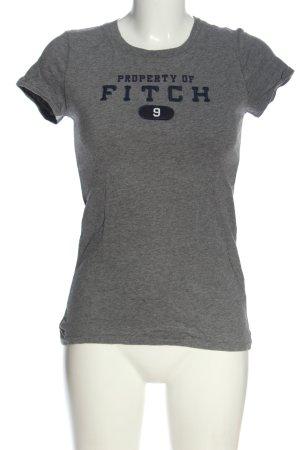 Abercrombie & Fitch U-Boot-Shirt hellgrau meliert Casual-Look