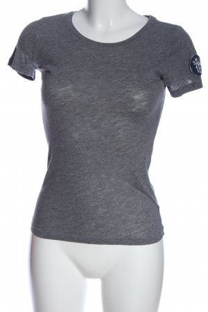 Abercrombie & Fitch Camisa de cuello barco gris claro look casual