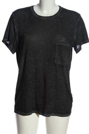 Abercrombie & Fitch U-Boot-Shirt schwarz meliert Casual-Look