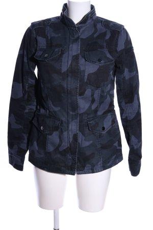 Abercrombie & Fitch Übergangsjacke schwarz-blau Allover-Druck Casual-Look