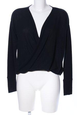 Abercrombie & Fitch Jersey con cuello de pico negro estilo «business»