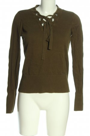Abercrombie & Fitch V-halstrui khaki casual uitstraling