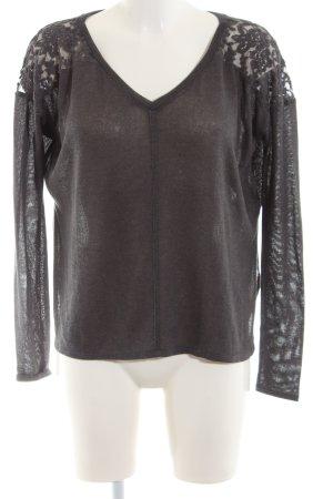 Abercrombie & Fitch V-Ausschnitt-Pullover schwarz Casual-Look
