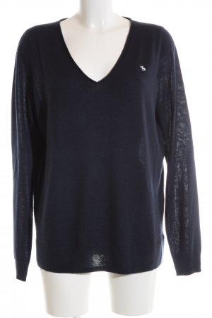 Abercrombie & Fitch V-Ausschnitt-Pullover blau Casual-Look
