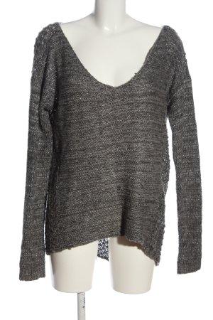 Abercrombie & Fitch V-Ausschnitt-Pullover hellgrau meliert Elegant