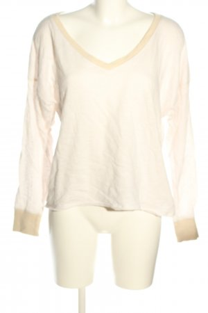 Abercrombie & Fitch V-Ausschnitt-Pullover creme Casual-Look