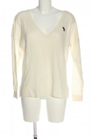Abercrombie & Fitch V-Neck Sweater cream casual look