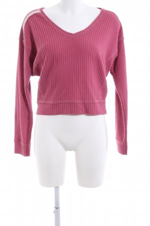 Abercrombie & Fitch V-Ausschnitt-Pullover pink Casual-Look