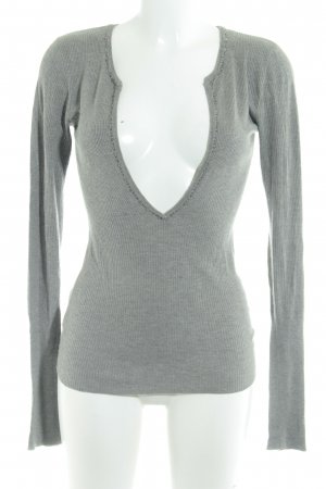 Abercrombie & Fitch V-Ausschnitt-Pullover grau Casual-Look