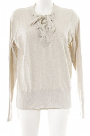 Abercrombie & Fitch V-Ausschnitt-Pullover hellbeige Business-Look