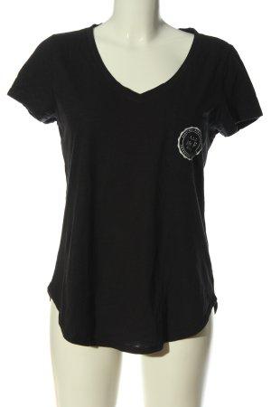 Abercrombie & Fitch Koszulka z dekoltem w kształcie litery V czarny