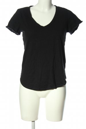 Abercrombie & Fitch Camisa con cuello V negro look casual