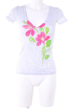 Abercrombie & Fitch V-Ausschnitt-Shirt Blumenmuster Casual-Look