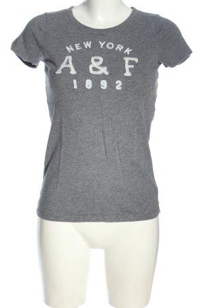 Abercrombie & Fitch T-shirt grigio chiaro Stampa a tema stile casual