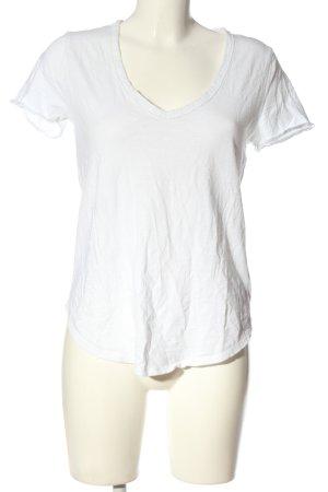Abercrombie & Fitch Camisa con cuello V blanco look casual