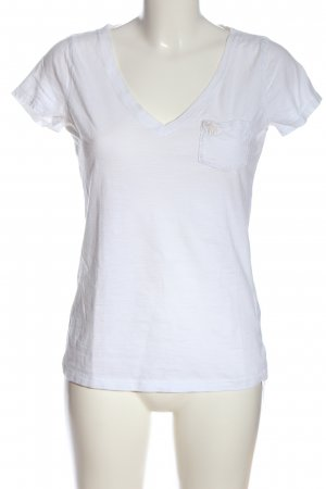 Abercrombie & Fitch V-Neck Shirt white casual look