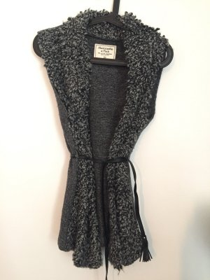 Abercrombie & Fitch Knitted Vest black-dark grey