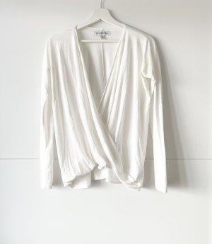 Abercrombie & Fitch Wraparound Shirt white-cream