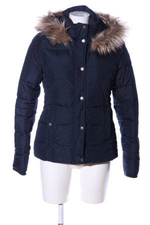Abercrombie & Fitch Winterjacke blau Steppmuster Casual-Look