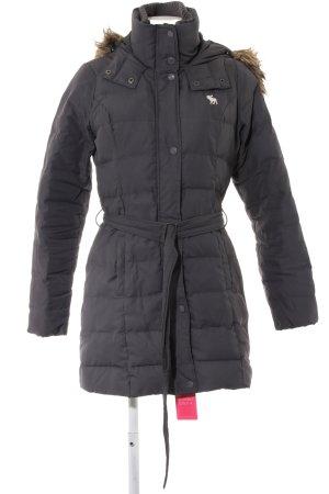 Abercrombie & Fitch Winterjacke schwarz Steppmuster Casual-Look