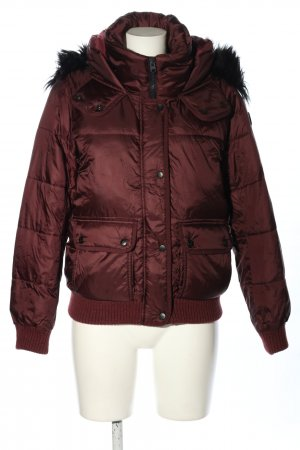 Abercrombie & Fitch Winterjacke rot Steppmuster Casual-Look