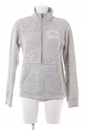 Abercrombie & Fitch Wollpullover hellgrau meliert Casual-Look