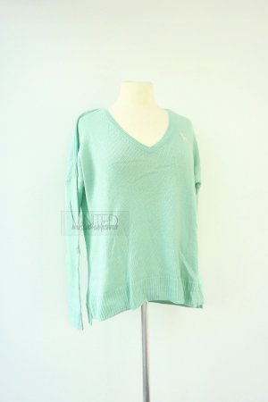 Abercrombie & Fitch Wool Sweater turquoise wool