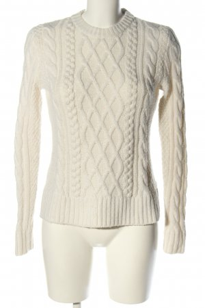 Abercrombie & Fitch Cable Sweater natural white cable stitch casual look