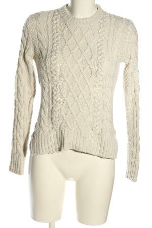 Abercrombie & Fitch Jersey trenzado blanco puro punto trenzado look casual