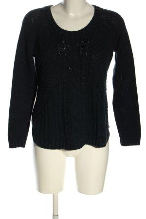 Abercrombie & Fitch Jersey trenzado negro punto trenzado look casual