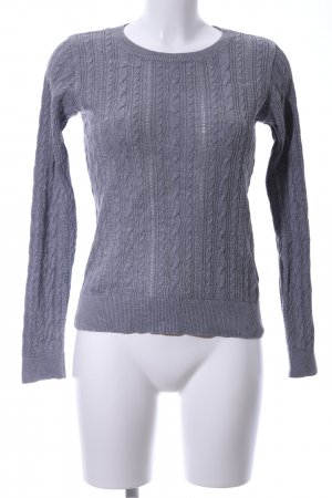 Abercrombie & Fitch Zopfpullover hellgrau Zopfmuster Casual-Look
