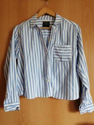 Abercrombie Hemd Blau/Weiß S