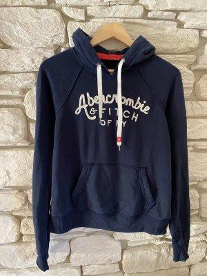 Abercrombie & Fitch Sweatshirt donkerblauw-wit