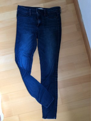 Abercrombie & Fitch Drainpipe Trousers blue