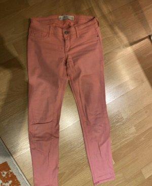 Abercrombie & Fitch Pantalone a vita bassa rosa